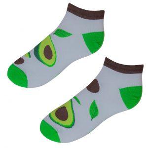 Veselé kotníkové ponožky POHODKY Avokádo