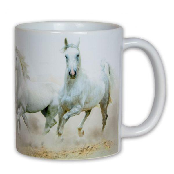 Hrnek s obrázkem - Bílé koně