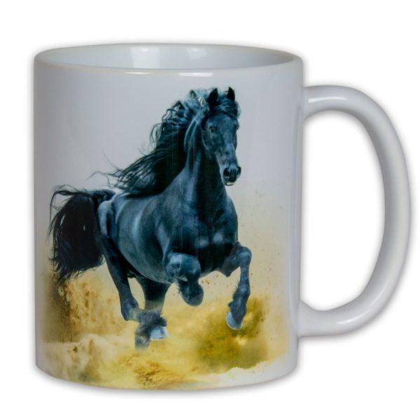 Hrnek s obrázkem - Černý kůň