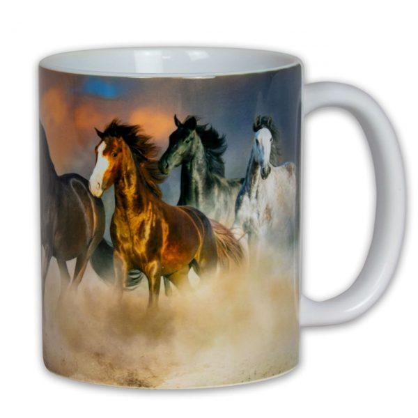 Hrnek - cválající koně