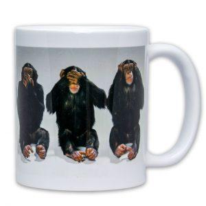 Hrnek - Opičky - Neříkám, nevidím, neslyším