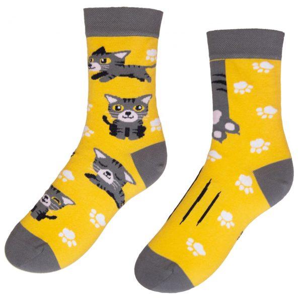 Veselé ponožky - Kočka