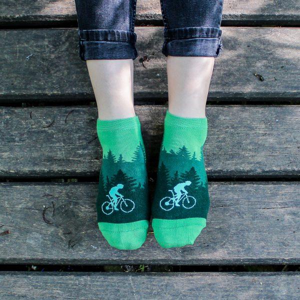 Veselé kotníkové ponožky – Cyklista