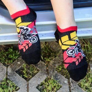 Veselé kotníkové ponožky – Motokros