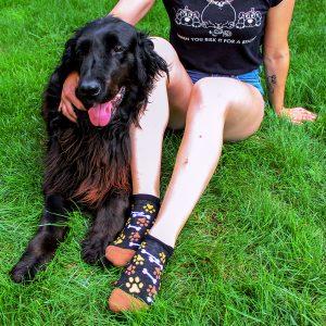 Veselé kotníkové ponožky – Psí tlapky