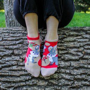 Veselé kotníkové ponožky – Zajíc
