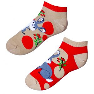 Barevné kotníkové ponožky