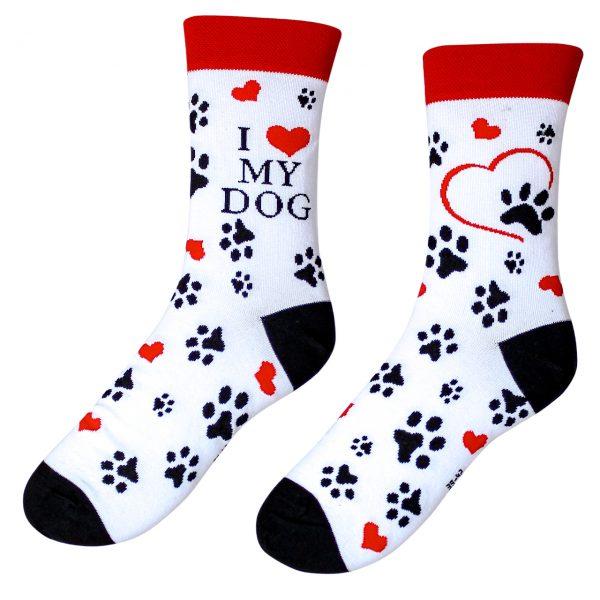Veselé ponožky – I love my dog ( Veselé ponožky – I love my dog