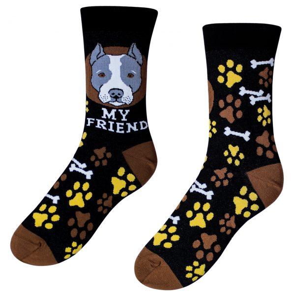 Veselé ponožky – pes Staford ( Veselé ponožky – pes Staford