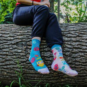 Veselé ponožky –Sova