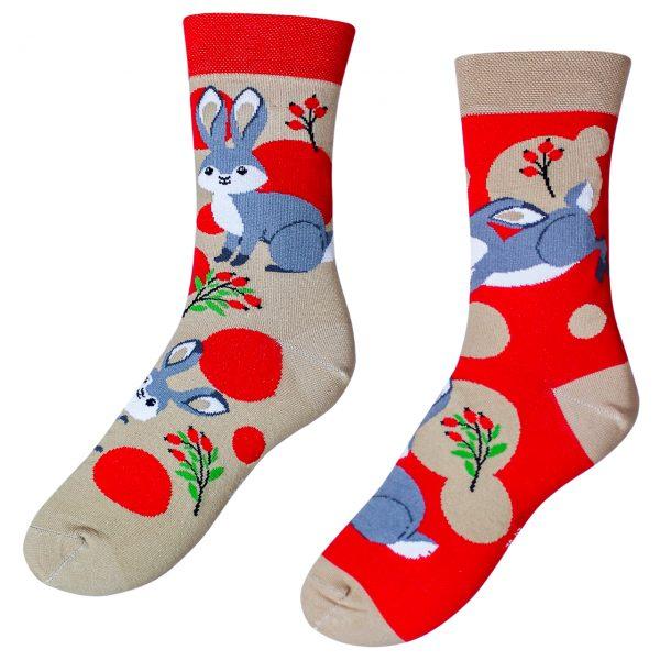 Veselé ponožky –Zajíc