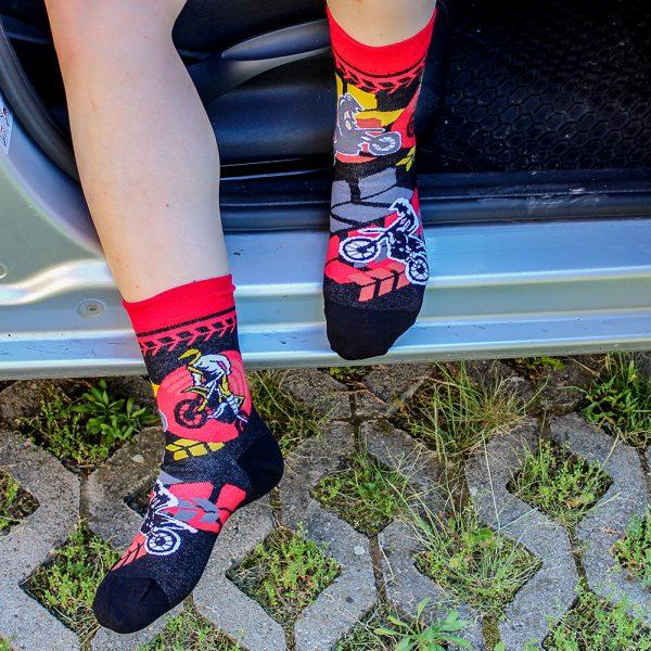 Veselé ponožky - Motokros
