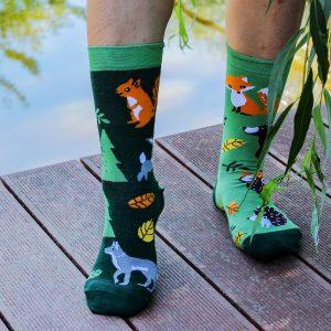 Veselé ponožky Lesní zvířátka
