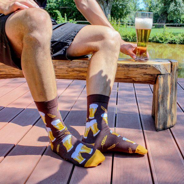 Veselé ponožky S pivem 2