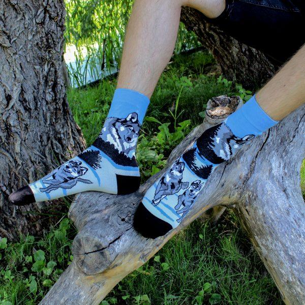 Veselé ponožky Vlci