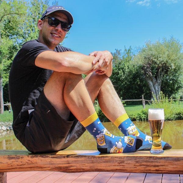 Veselé ponožky Vtipné pivo