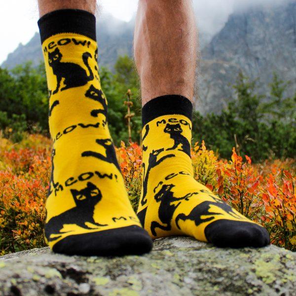 Veselé ponožky – Černé kočky