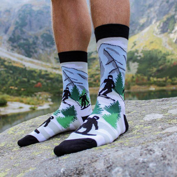 Veselé ponožky – Lyžař
