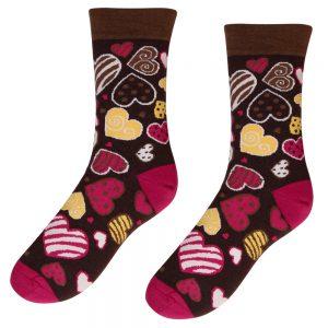 Veselé ponožky – Sladké srdíčka