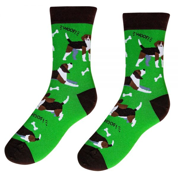 Veselé ponožky –Pes Bígl