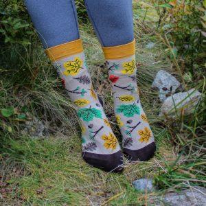 Veselé ponožky - Listy